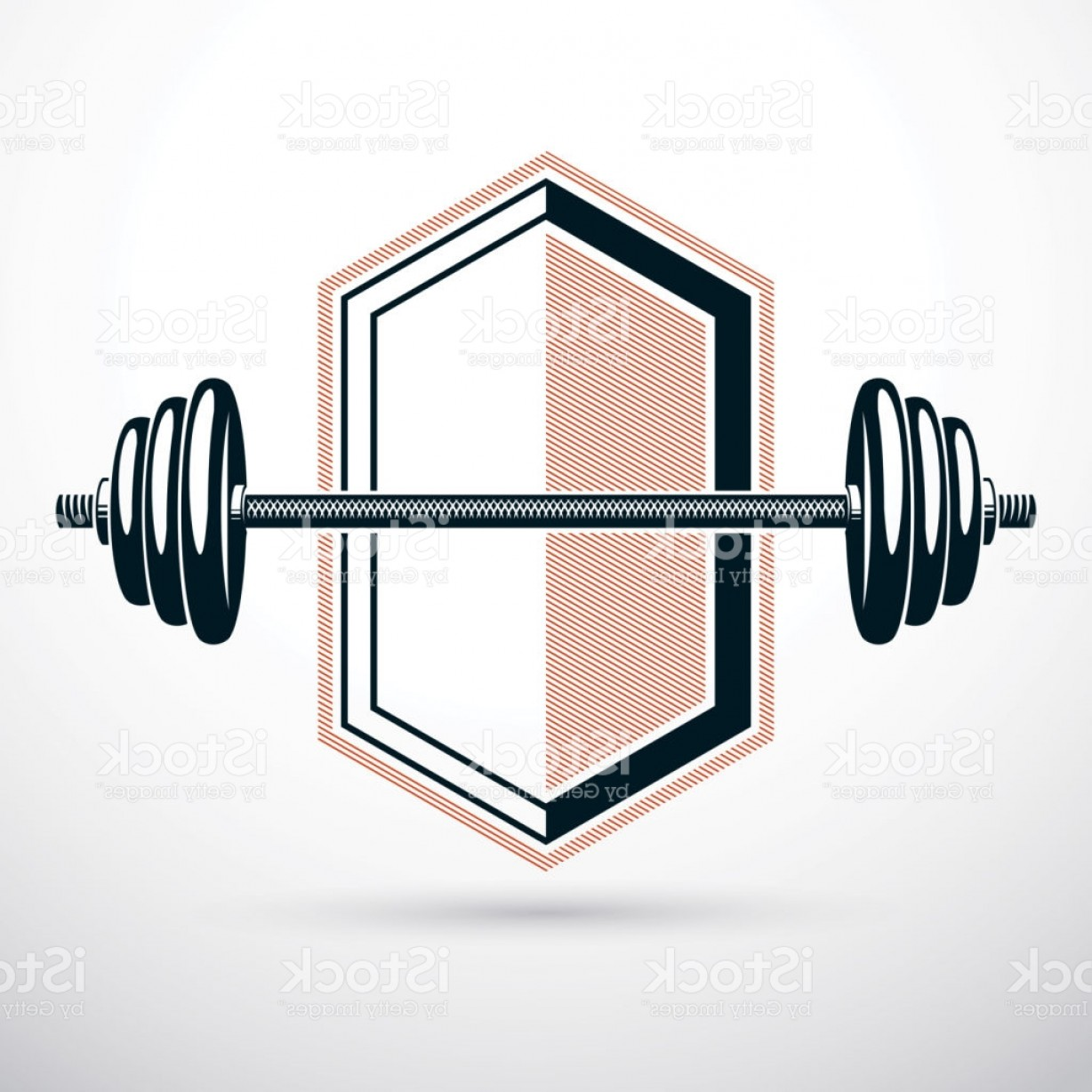 Weightlifter Vector Art: Barbell Vector Illustration Isolated On White Weight Lifting Gym Symbol Gm