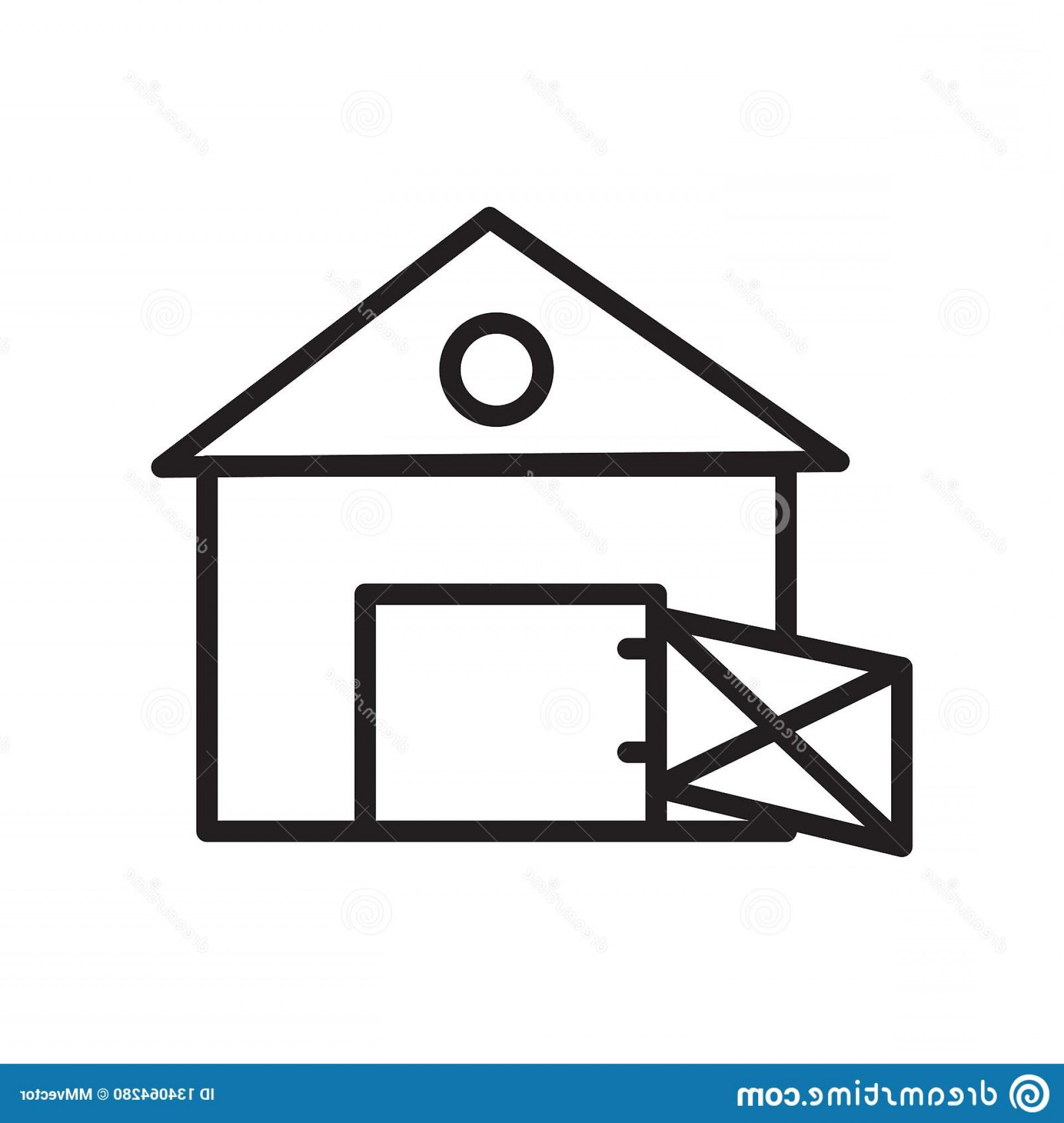 Barn Outline Vector: Barn Icon Vector Isolated White Background Barn Transparent Sign Linear Symbol Stroke Design Elements Outline Style Barn Image