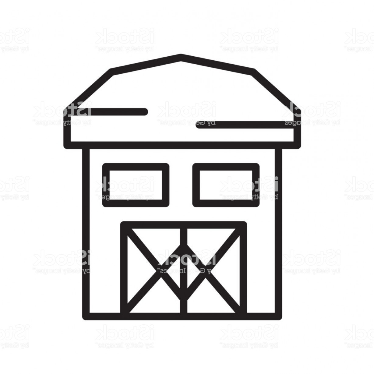 Barn Outline Vector: Barn Icon Vector Sign And Symbol Isolated On White Background Barn Logo Concept Gm