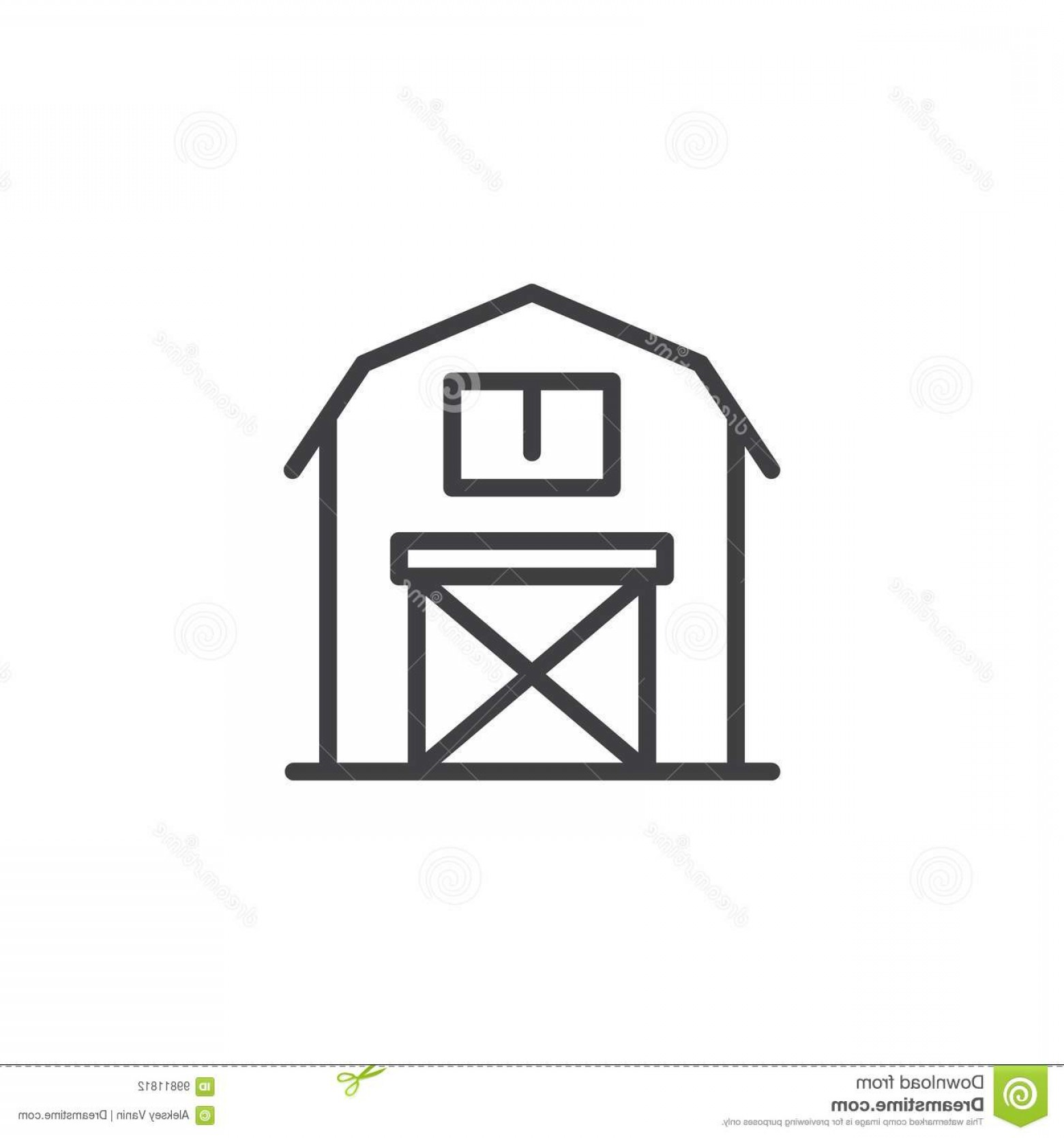 Barn Outline Vector: Barn Line Icon Outline Vector Sign Linear Style Pictogram Isolated White Symbol Logo Illustration Editable Stroke Barn Line Image