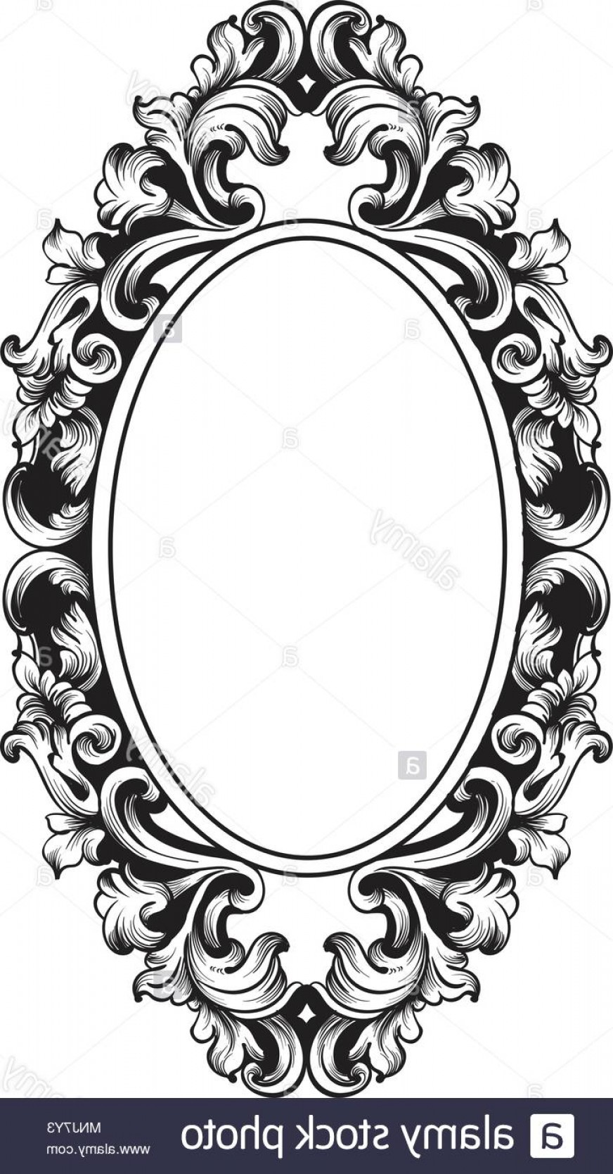 Victorian Ornamental Designs Vector: Baroque Frame Decor Vector Victorian Detailed Rich Ornament Illustration Royal Luxury Intricate Ornaments Graphic Line Art Style Image