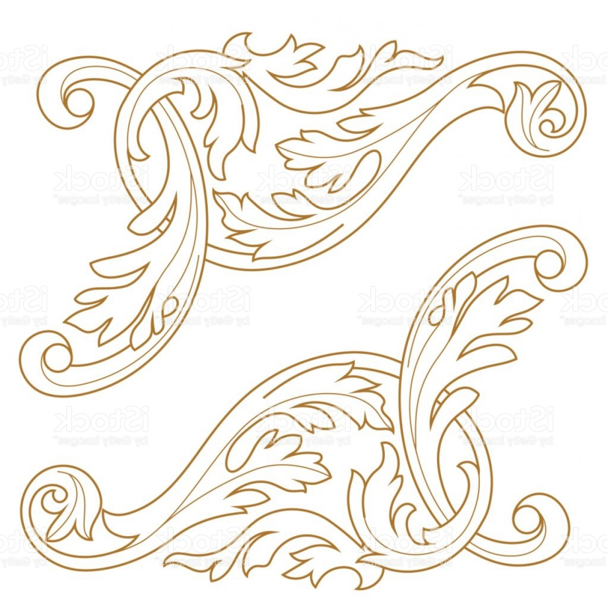 Baroque Vector Clip Art: Baroque Vector Vintage Elements For Design Decorative Design Element Filigree Gm