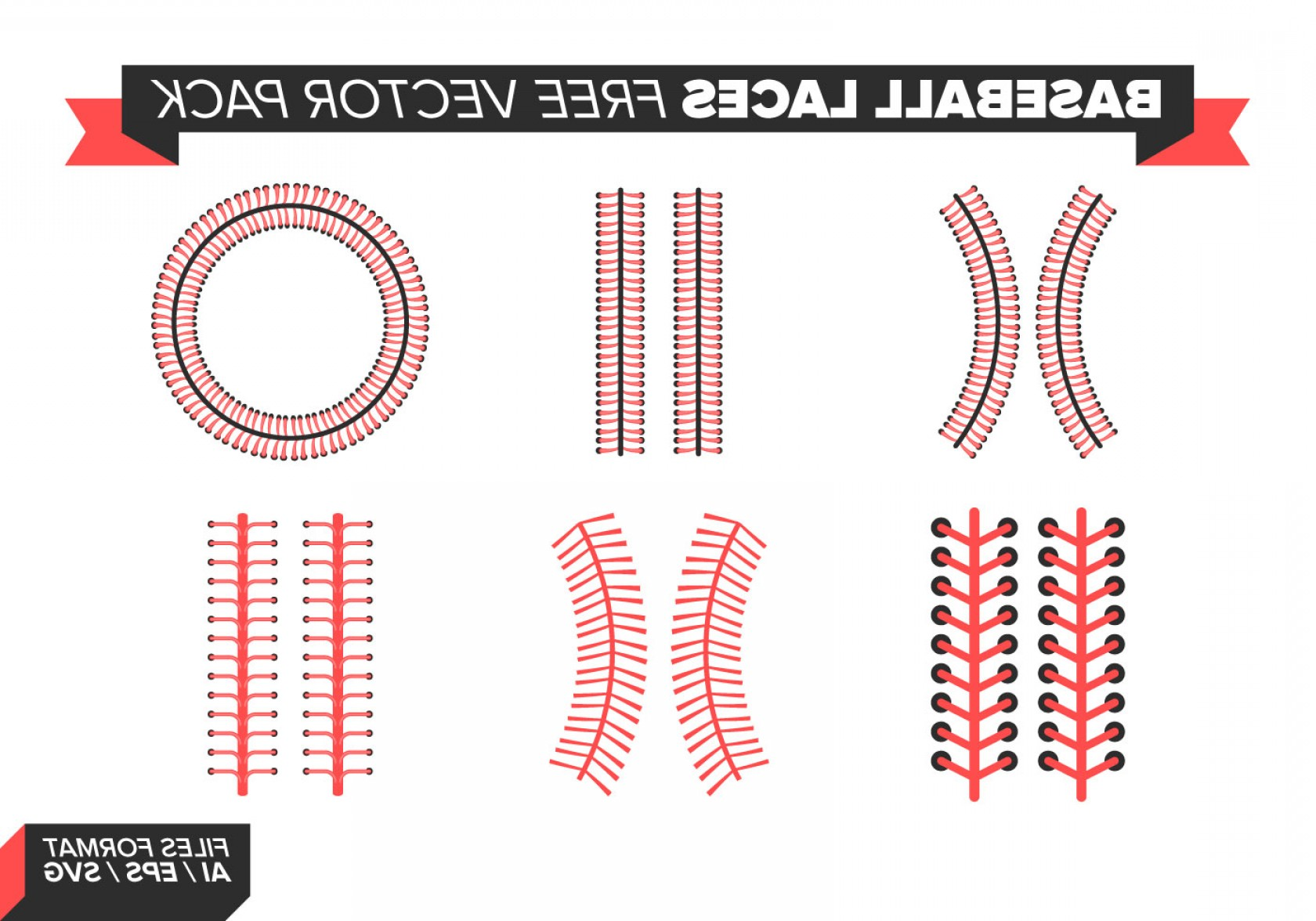Laces Basball Vector: Baseball Laces Free Vector Pack