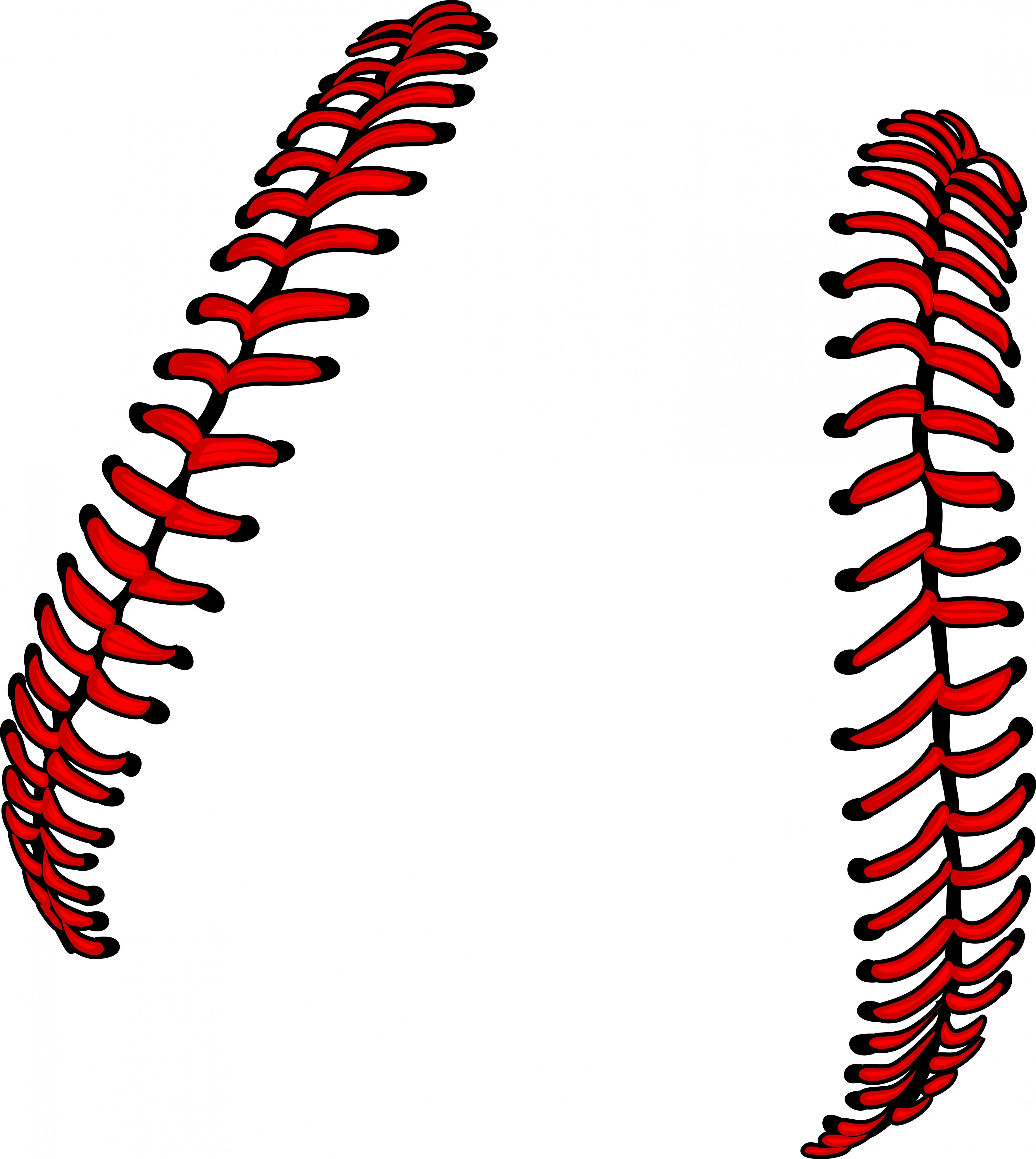 Laces Basball Vector: Baseball Laces Or Softball Laces Vector Image