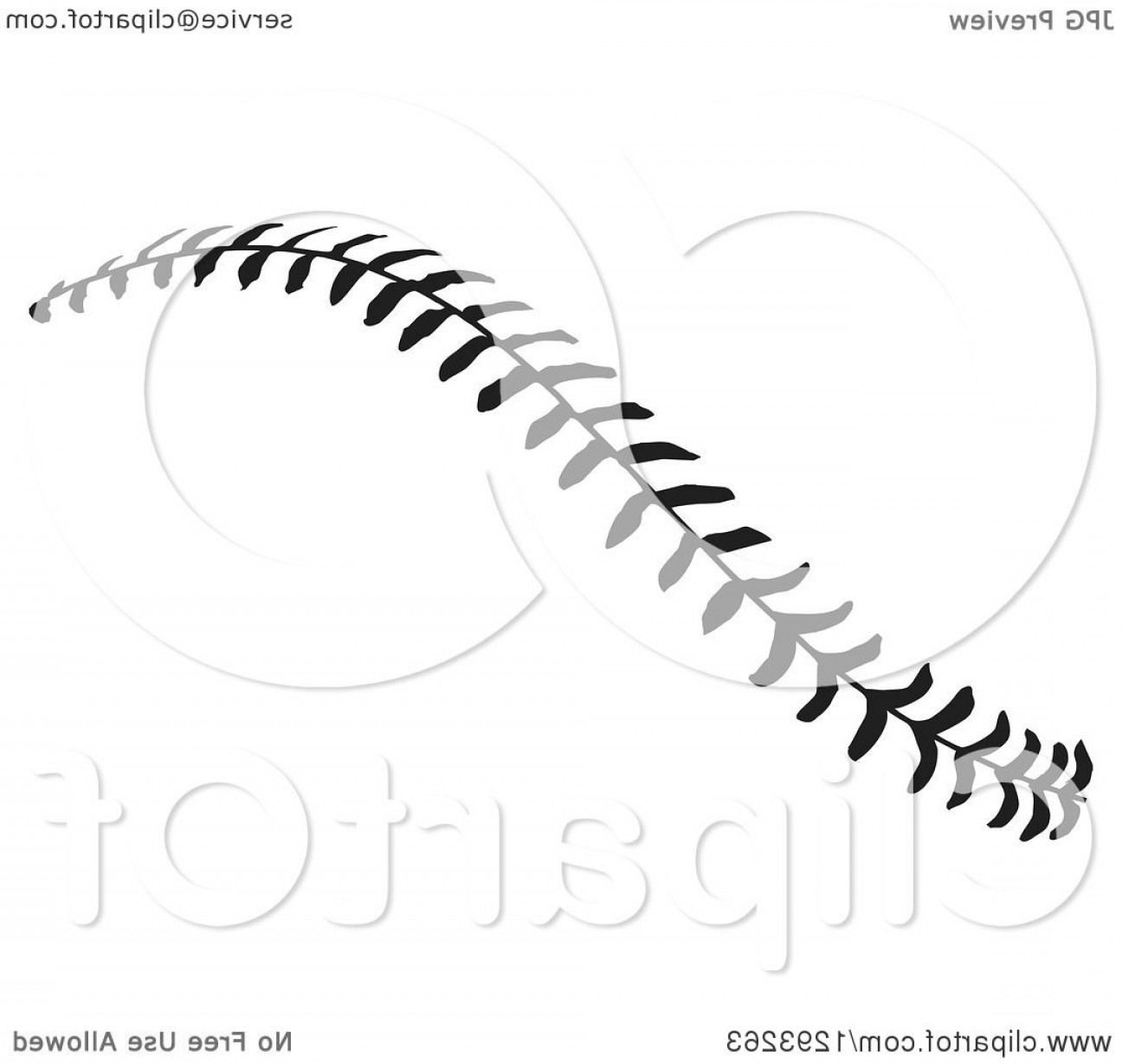 Basketball Seams Vector Clip Art: Baseball Stitches Clipart Black And White