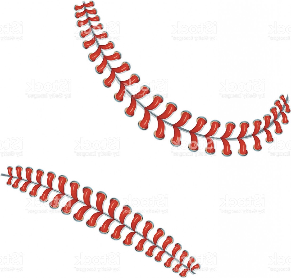 Softball Laces Vector Art B W: Baseball Stitches Or Laces Background Gm
