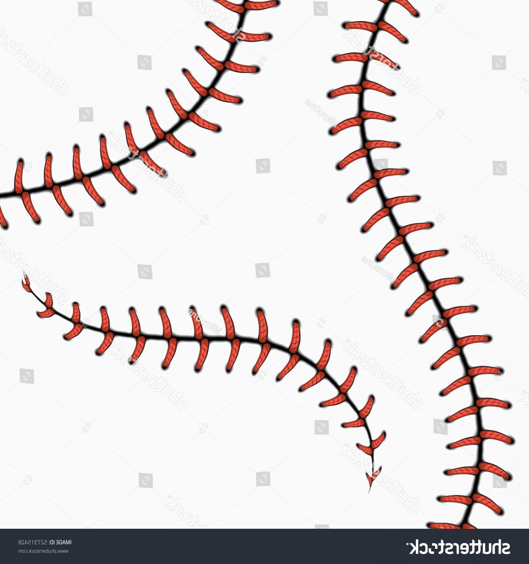 Basketball Seams Vector Clip Art: Baseball Stitches Softball Laces Isolated On