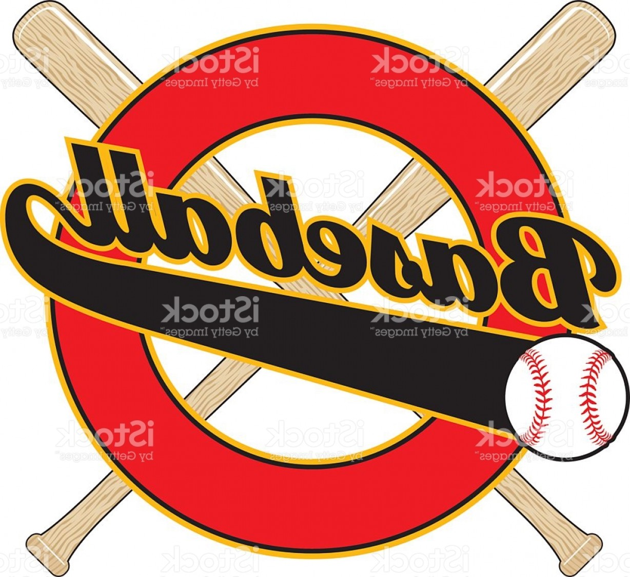 Baseball Tails Vector Clip Arts: Baseball With Tail Banner Gm