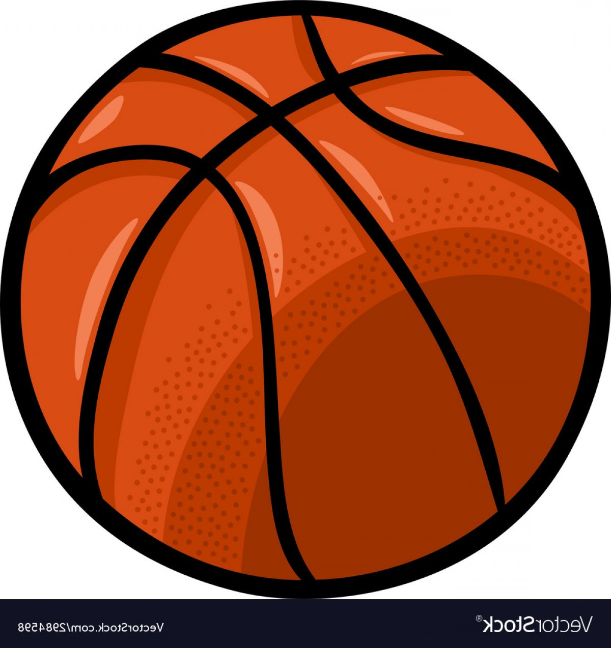 Cartoon Basketball Vector: Basketball Ball Cartoon Clip Art Vector