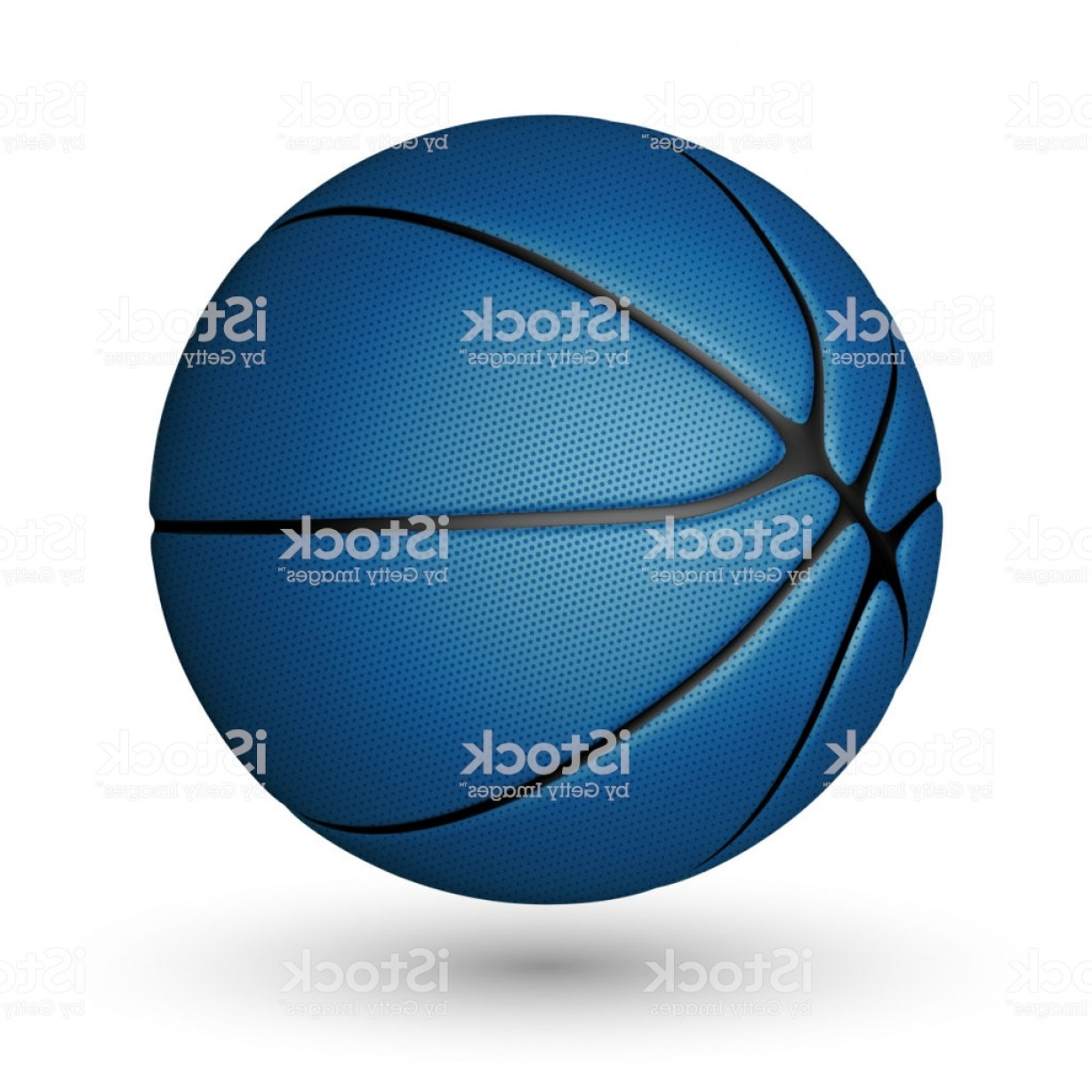 Basketball Seams Vector Clip Art: Basketball Ball Isolated On A White Background Realistic Vector Illustration Gm