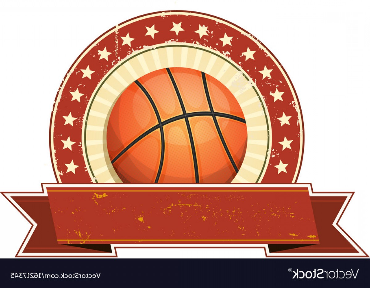 Vintage Basketball Vector: Basketball Grunge And Vintage Banner Vector