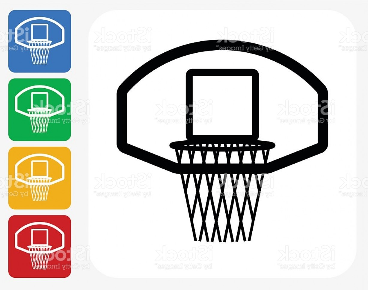 Basketball Vector Graphic Designs: Basketball Hoop Icon Flat Graphic Design Gm