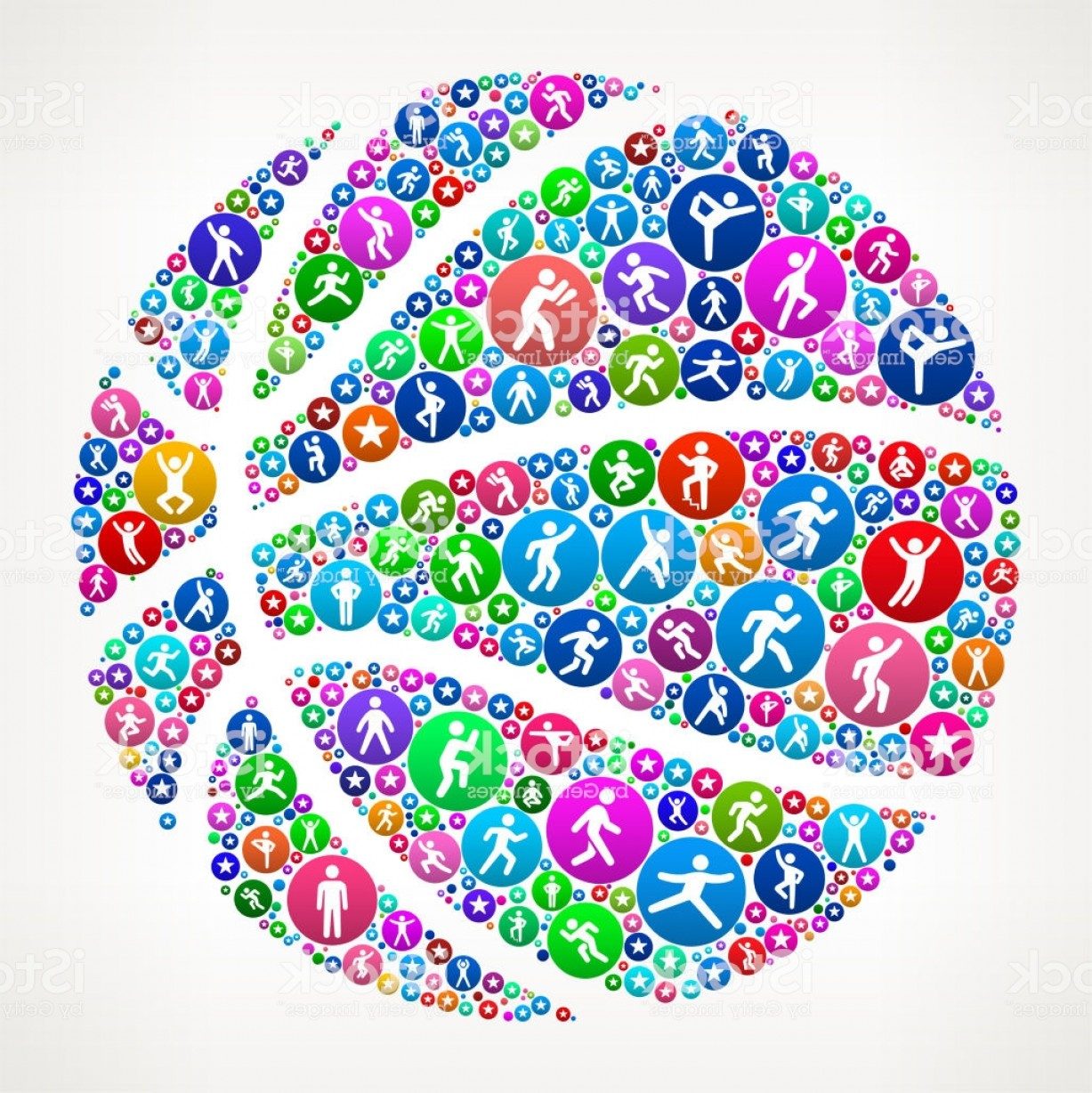Motion Basketball Vector: Basketball People In Motion Fitness Icon Pattern Gm