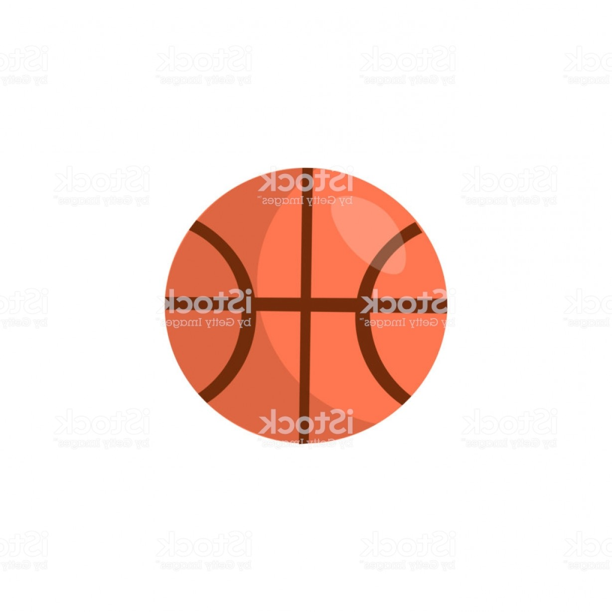 Cartoon Basketball Vector: Basketball Vector Cartoon Icon Round Orange Ball For Basketball Cartoon Logo Gm