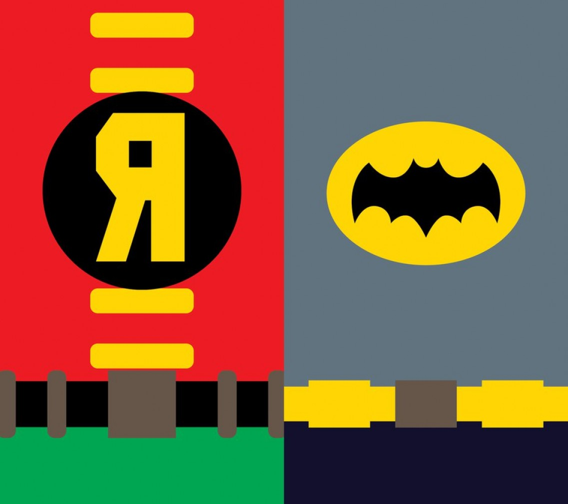Vector Batman 1966: Batman And Robin Phone Background