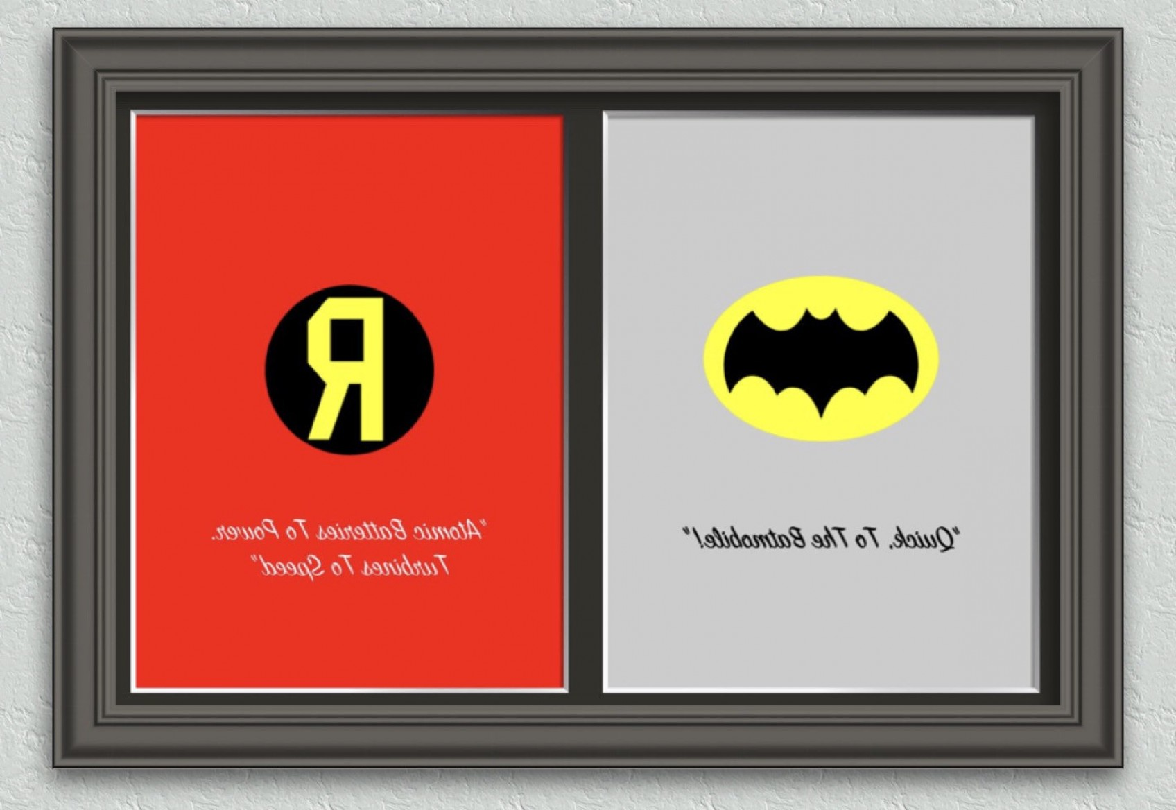 Vector Batman 1966: Batman Robin Chest Emblem Prints