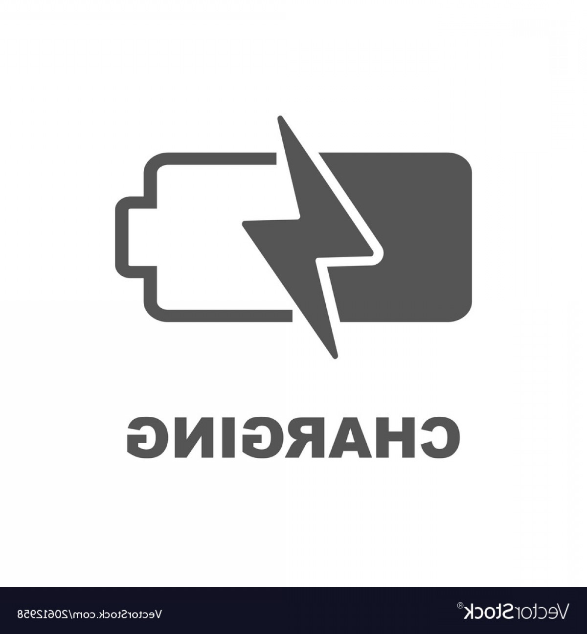 IPhone Battery Vector Icons: Battery Charging Icon Black Sign On White Vector