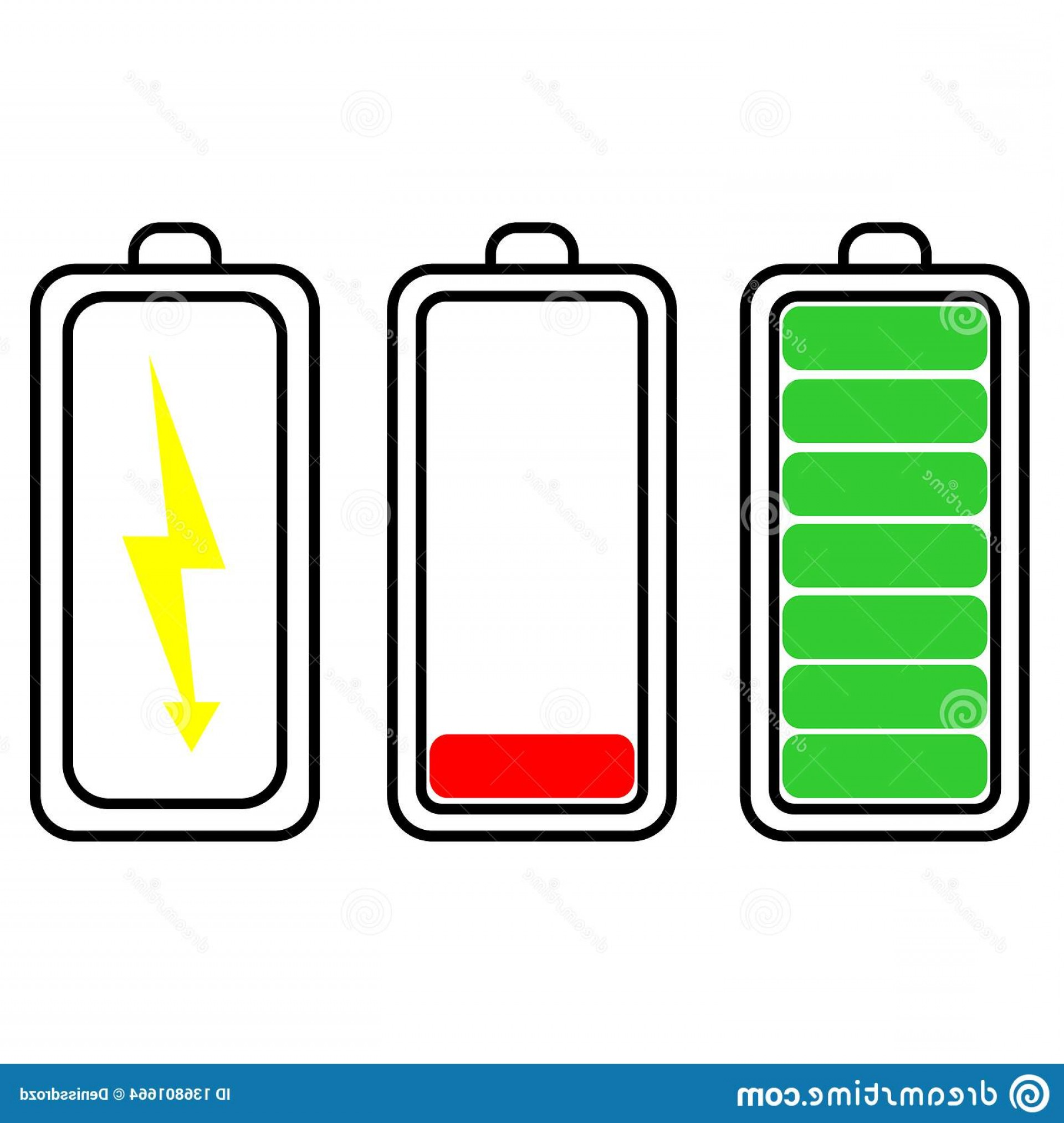 Vector Smart Charger: Battery Charging Icon Charger Vector Illustration Image