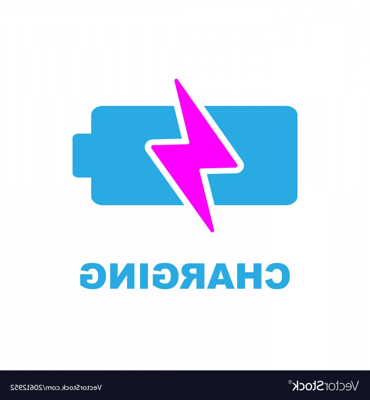 IPhone Battery Vector Icons: Battery Charging Icon Color Sign On White Vector