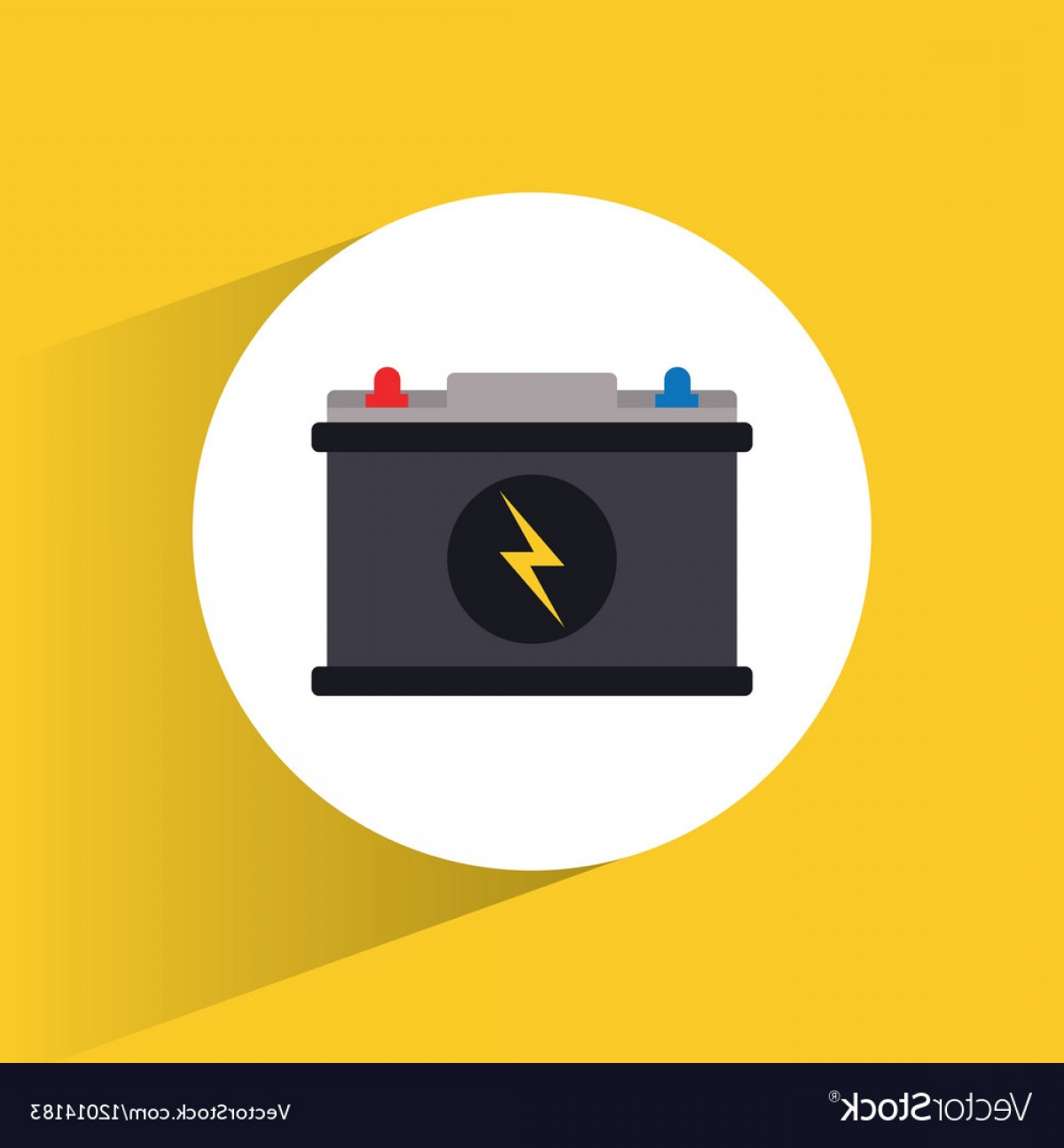 Battery Electricity Vector Images: Battery High Voltage Electricity Vector