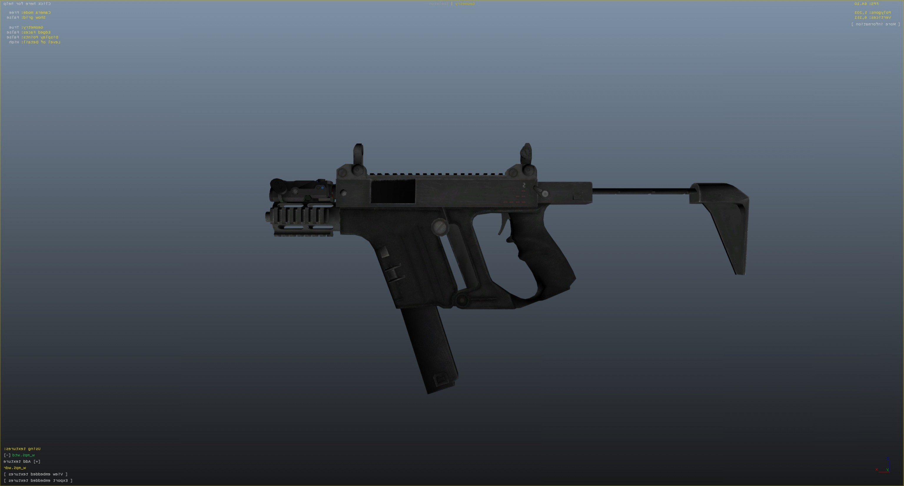 GTA Photo To Vector: Battlefield Hardline Kriss Vector K F