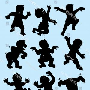Ballet Vector Babydancer: Baby Dancing Silhouettes Nice Smooth Vector