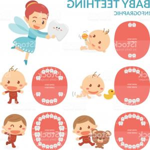 Baby Tooth Clip Art Vector: A Crying Baby Boy With A Melted Ice Cream