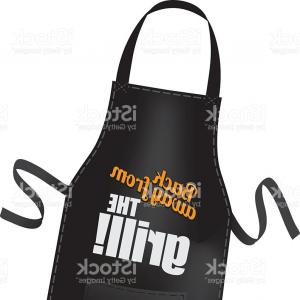 Apron Vector: Realistic White Blank Cotton Kitchen Apron Vector