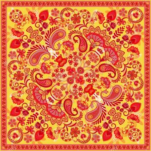 Bandana Vector Art: Bandana Vector Tile Ornament Paisley Print