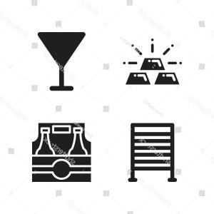 Gold Gym Vector: Bar Icon Vector Icons Set