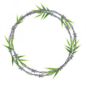 Barb Wire Wreath Vector: Barbed Wire In Circular Shape For Fence Vector Image