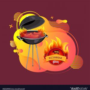 Vector Cookout Grill: Barbeque Party Cookout And Grilling Banner Vector