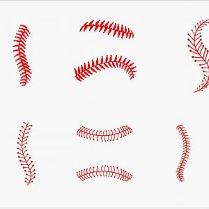 Softball Laces Vector Art B W: Baseball Laces Vector Pack Softball Clipart