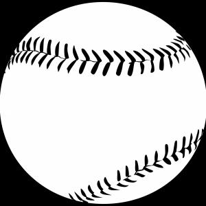 Baseball Vector BW: Baseball Youth Clipart Black And White