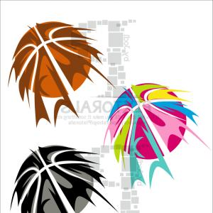 Basketball Seams Vector Clip Art: Red Lace Baseball Set Different Types