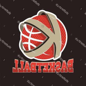Basketball Seams Vector Clip Art: Sports Red Sneakers Hang Tied Laces