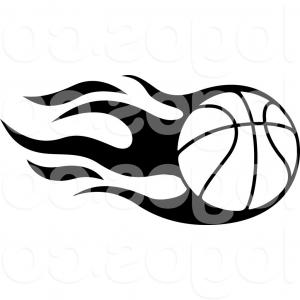 Basketball Seams Vector Clip Art: Photoflying Funny Basketball Ball Isolated On White