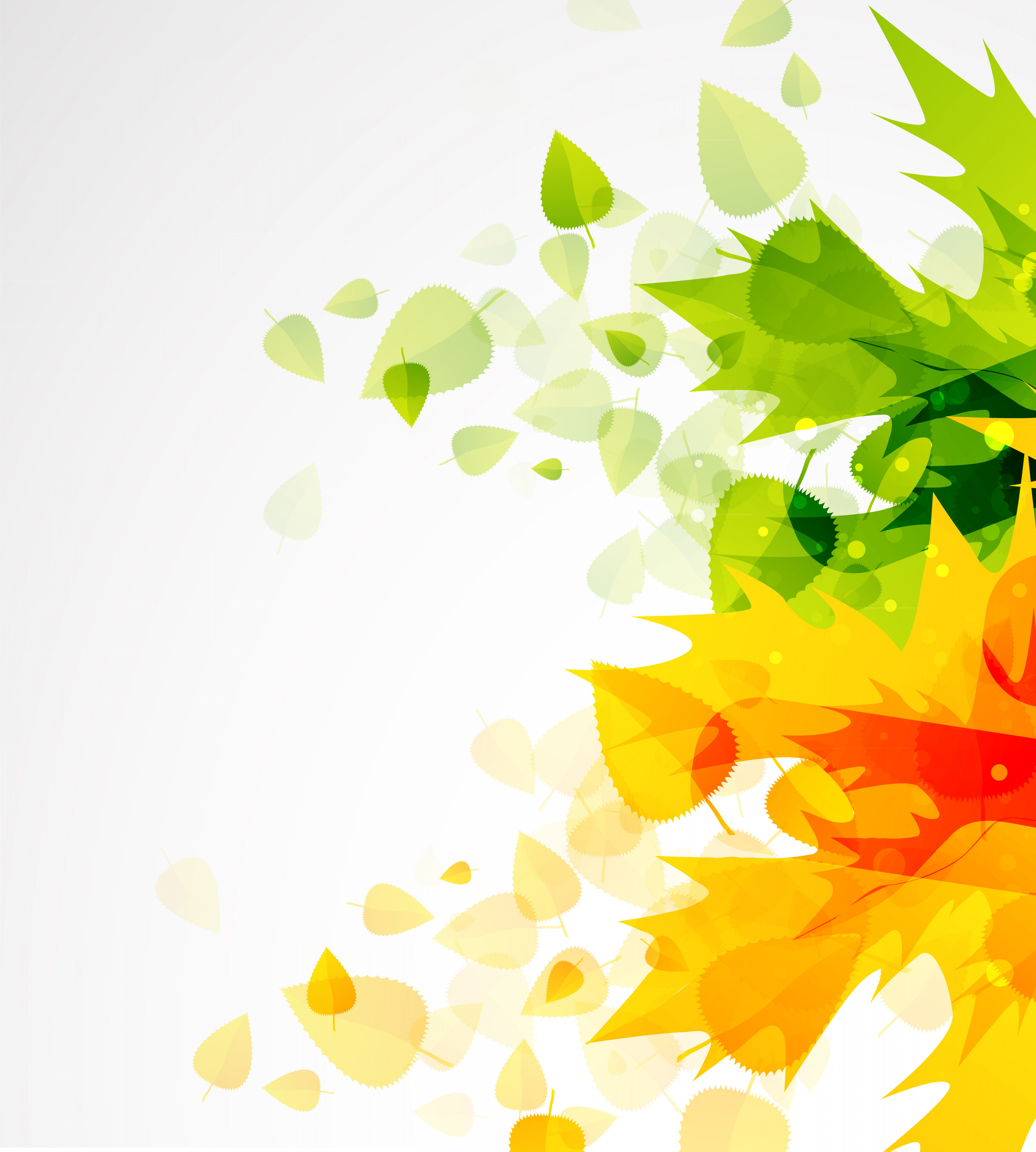Leaf Background Vector: Beautiful Autumn Leaf Background Vector