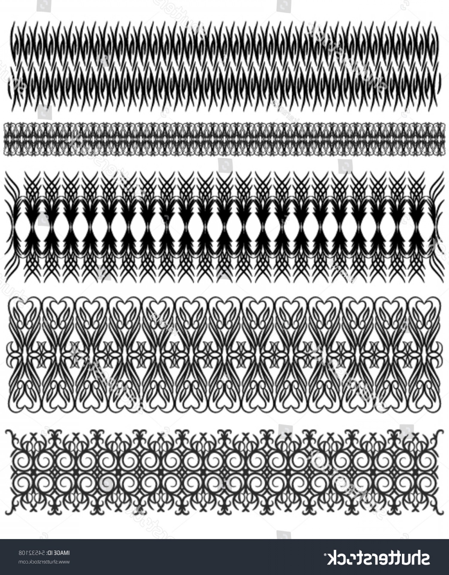 Vector Can Trim White: Beautiful Black Vector Trim Collection Over