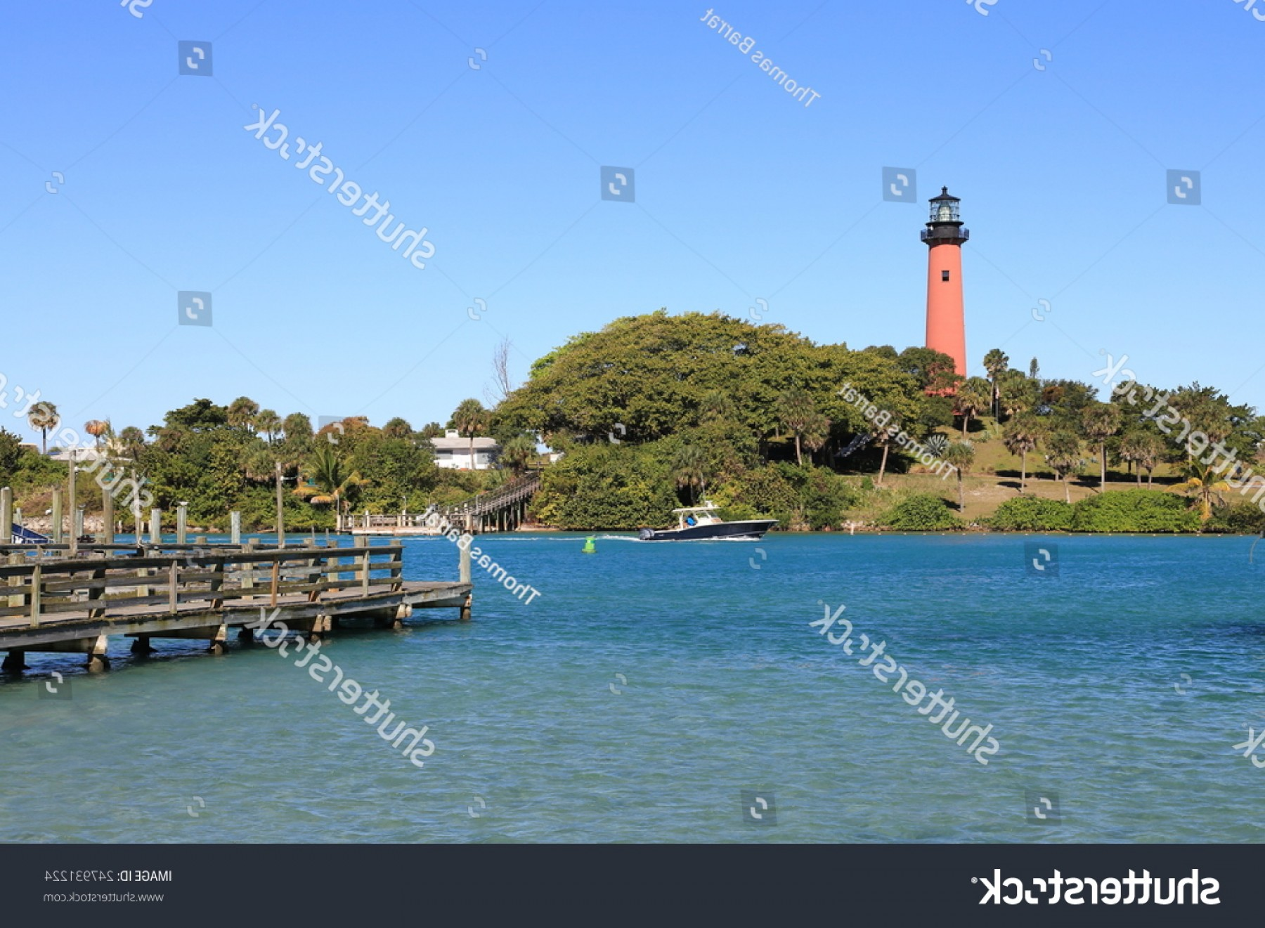 Jupiter Lighthouse Vector: Beautiful Historic Jupiter Lighthouse Tequesta Florida