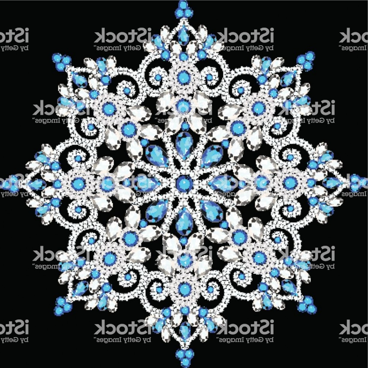 Aqua Victorian Medallions Vectors: Beautiful Jewelry Medallion Brooch Decoration On Neck Mandala Gm