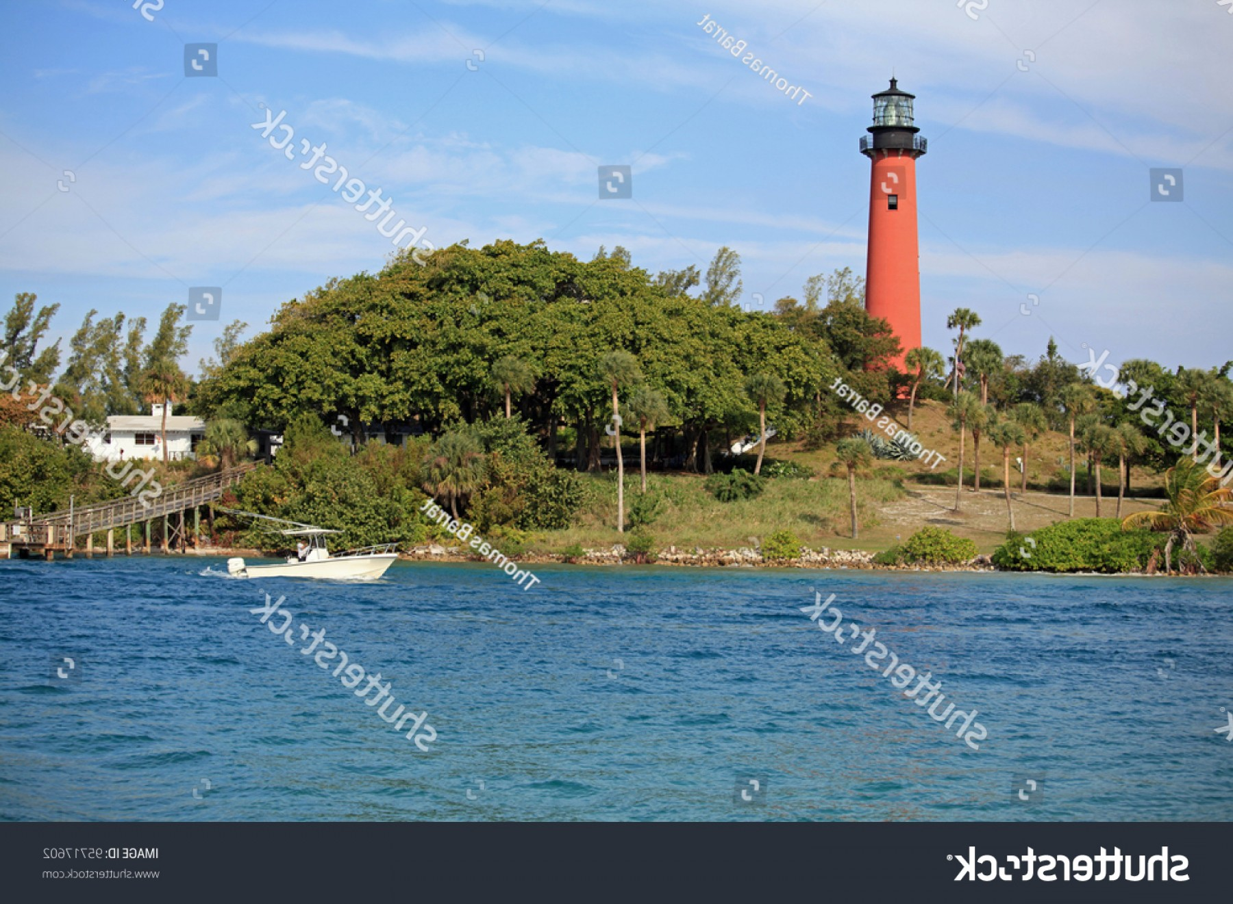 Jupiter Lighthouse Vector: Beautiful Jupiter Lighthouse Waterway South Florida