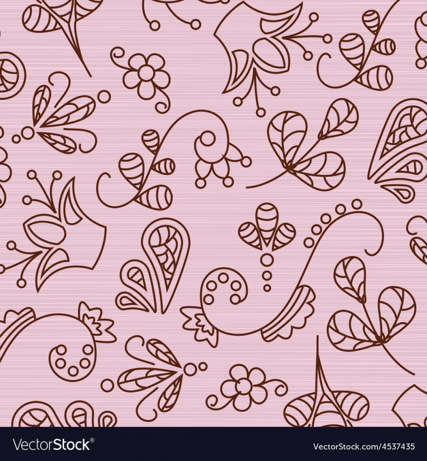 Beautiful Patterns Vector: Beautiful Patterns On A Pink Background Vector