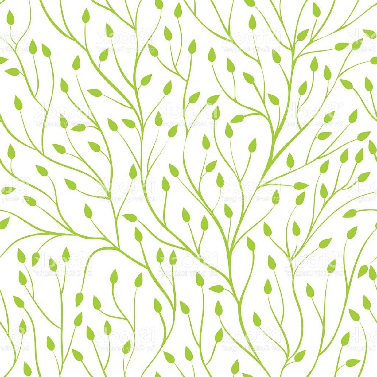 Tree Branch Vector Background: Beautiful Seamless Background With Tree Branches Gm