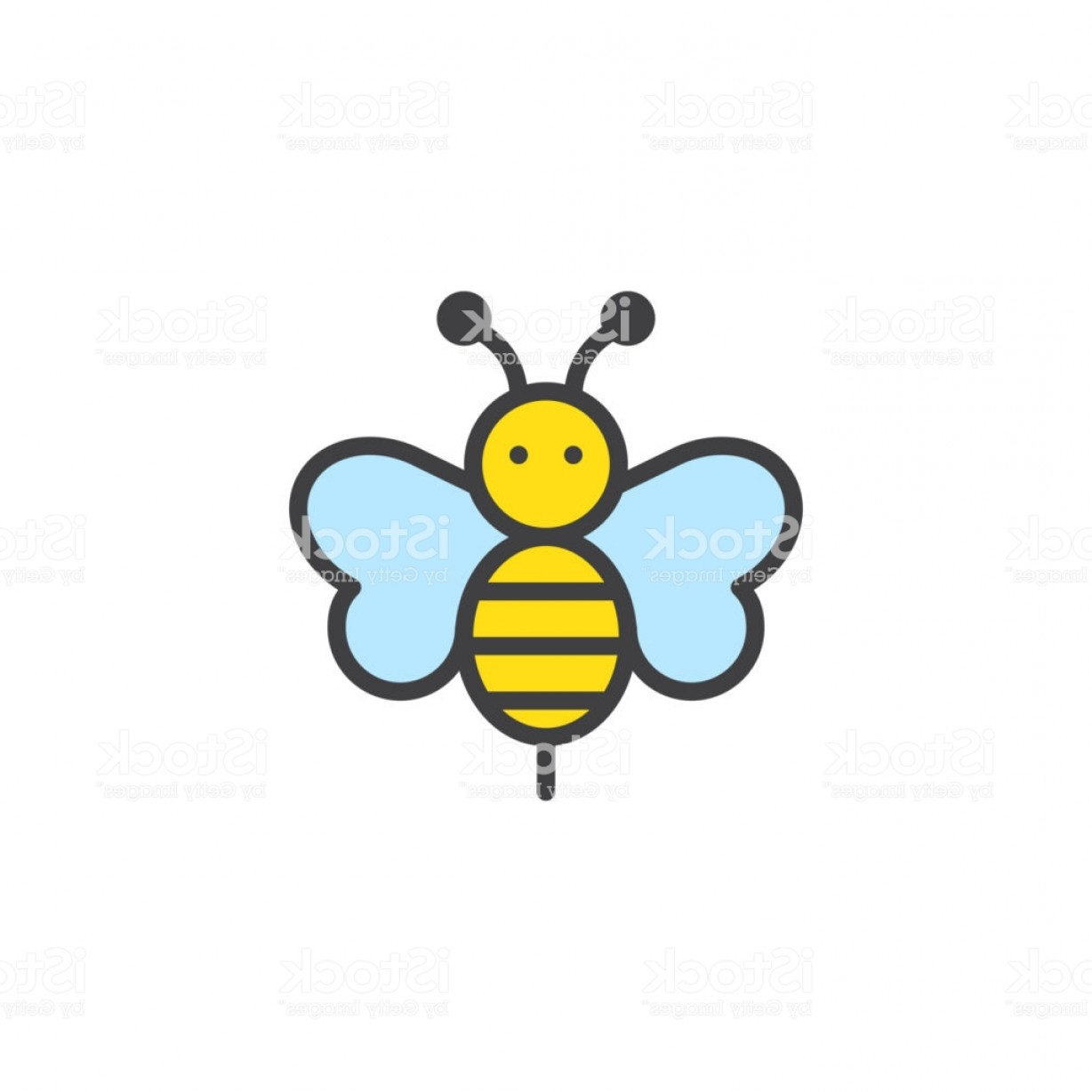 Bee Stinger Back Vector Art: Bee Animal Filled Outline Icon Gm