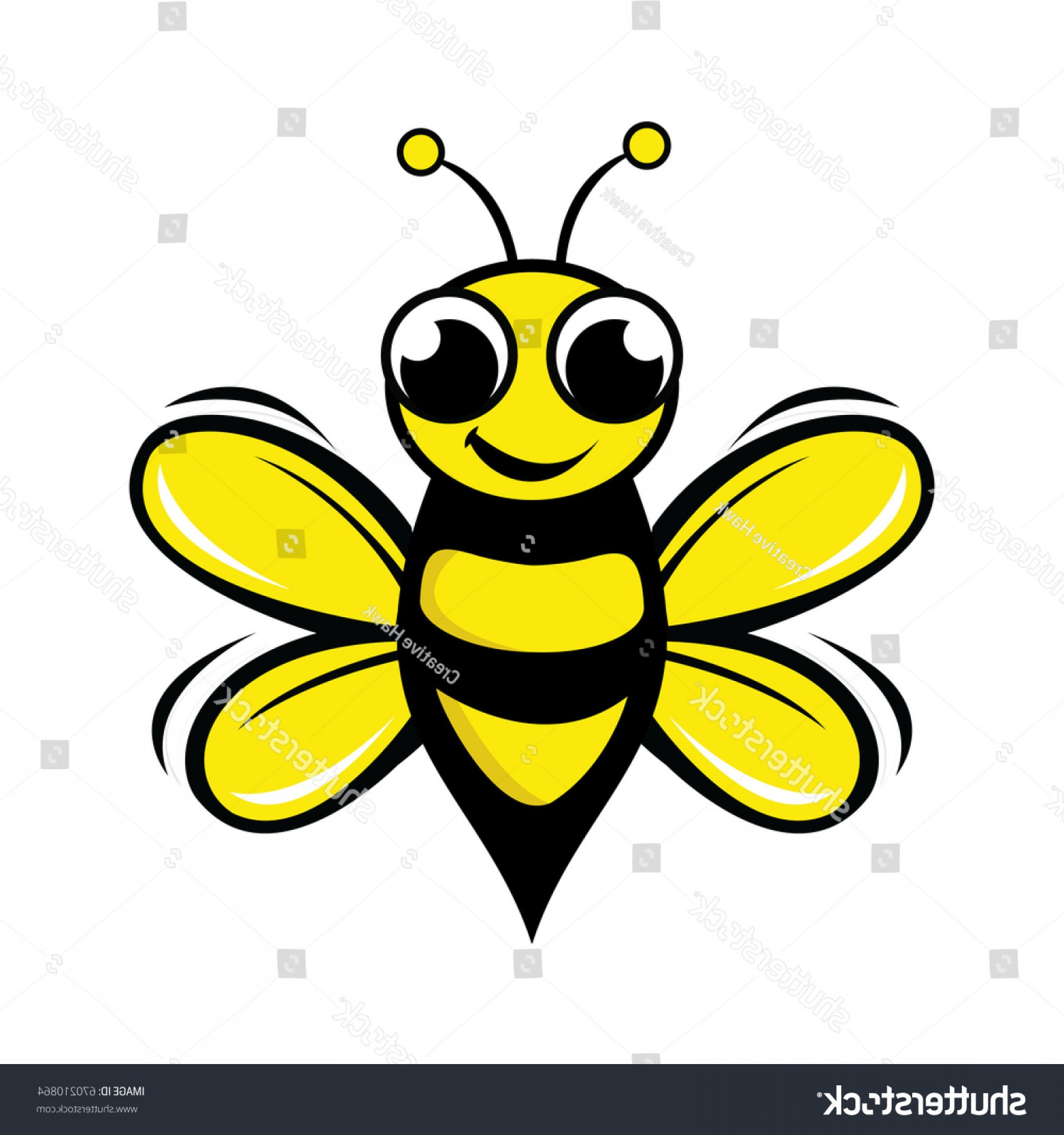 Vector Bee Icon: Bee Logo Design Concept Abstract Creative