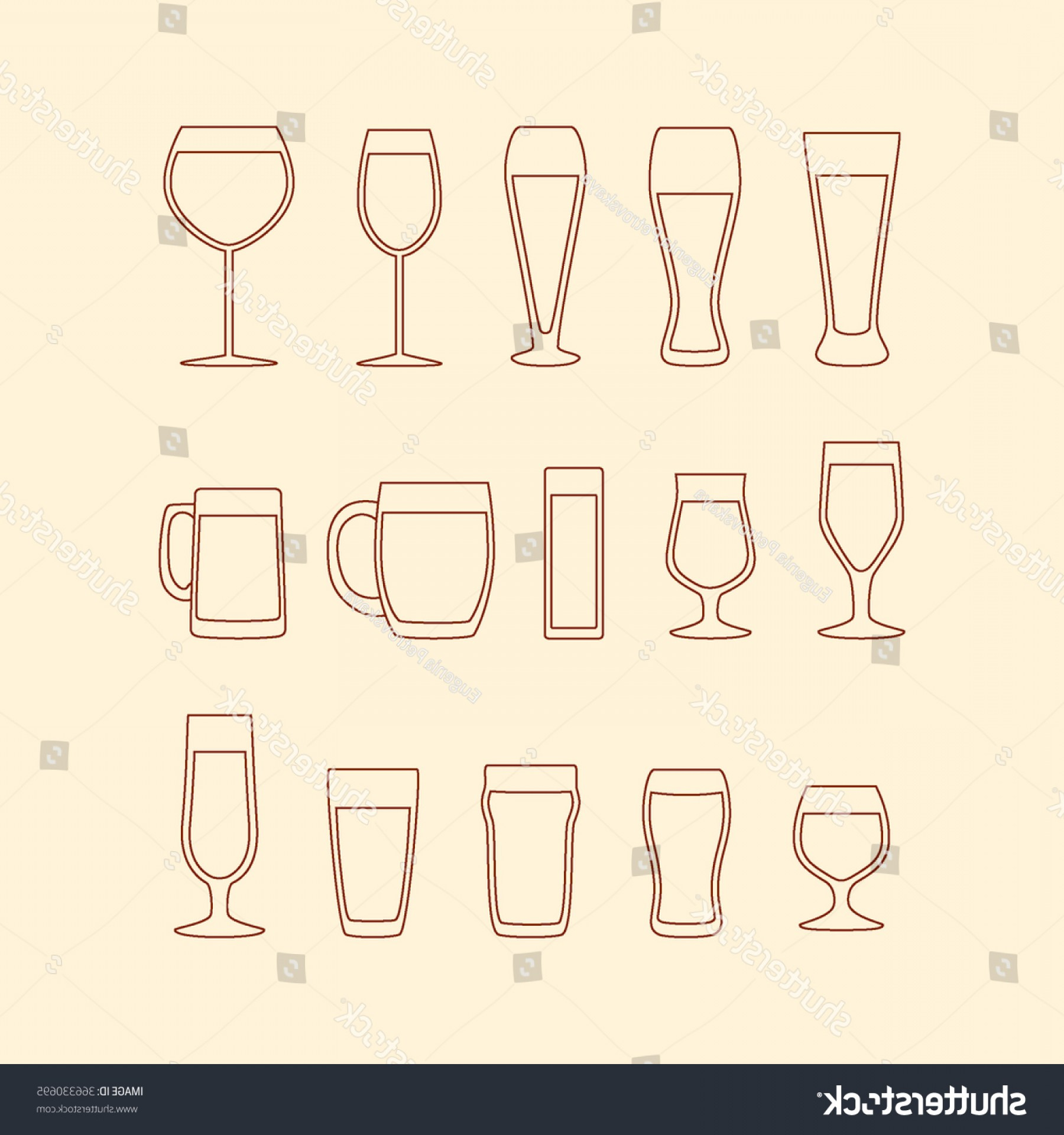 Beer Chalice Vector Logo: Beer Glass Shape Collection Made Vector