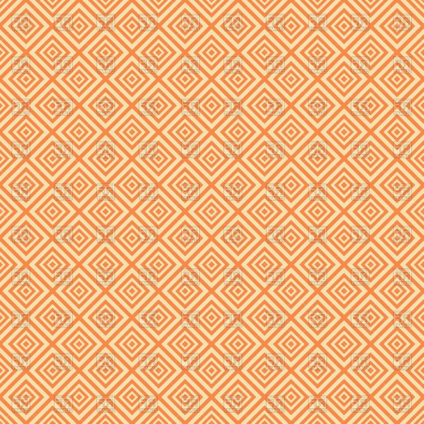 Geometric Vector B2: Beige Seamless Geometric Background With Rhombuses Vector Clipart