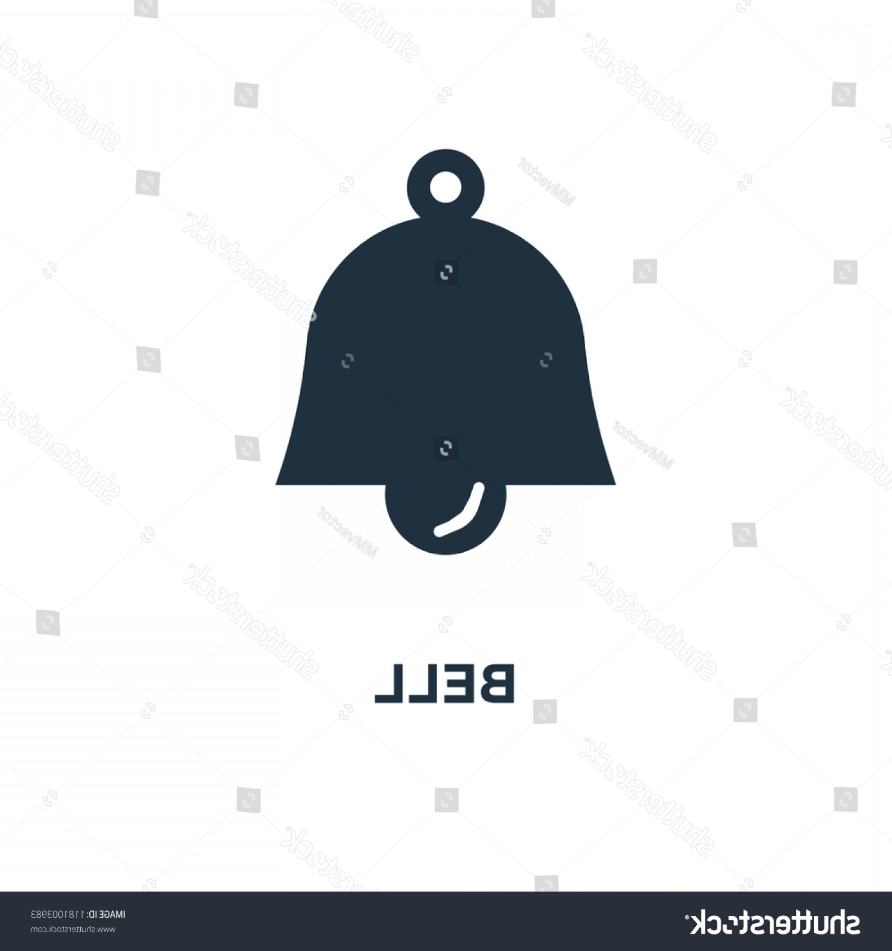 Belle EPS File Vector Art: Bell Icon Black Filled Vector Illustration