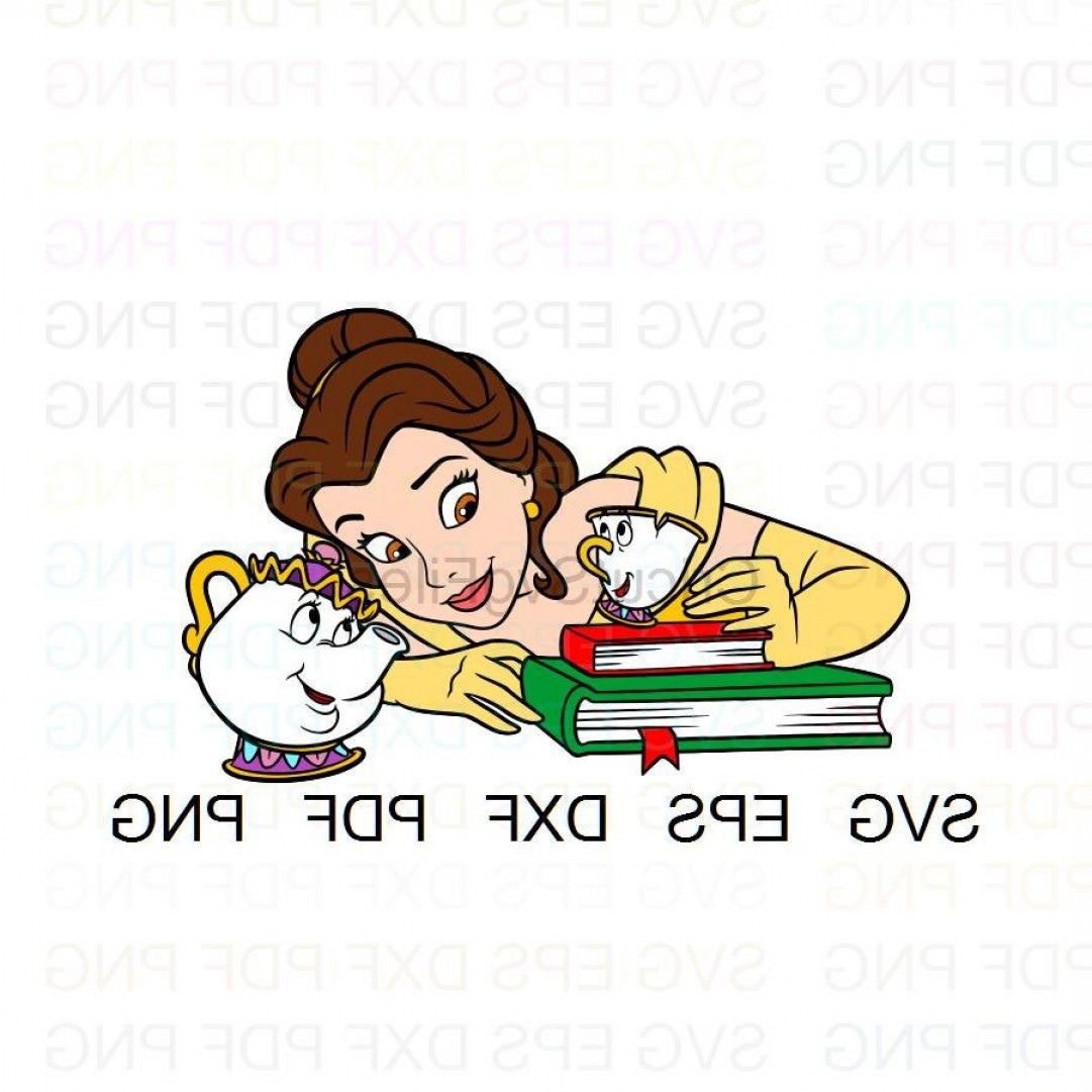 Belle EPS File Vector Art: Belle Chip And Mrs Potts Beauty And The